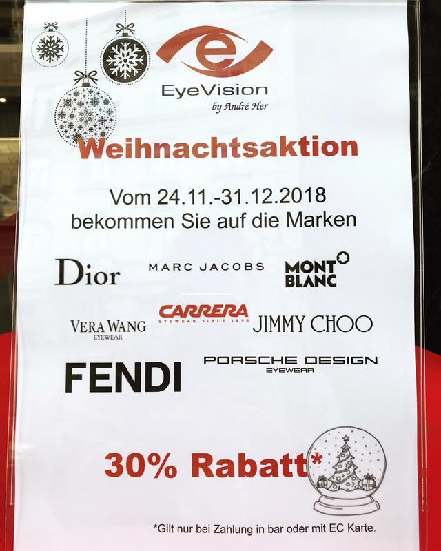 Brillengeschäft in Frankfurt am Main – Unsere Aktionen